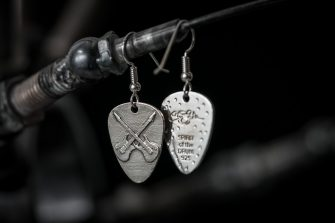 CROSS GUITAR PICK EARRING