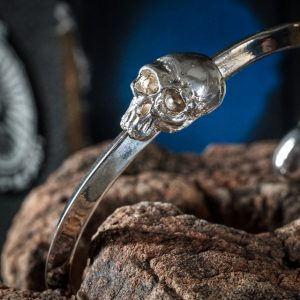 Acorn Tipped Skull Bracelet