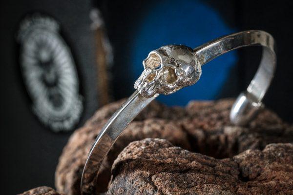 Bullet Tipped Skull Bracelet